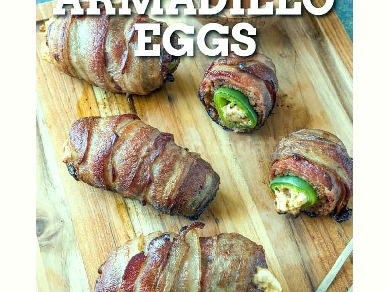 Bacon Wrapped Armadillo Eggs Recipe - This armadillo eggs recipe takes cheese stuffed jalapeno peppers, wraps them in hot Italian sausage and bacon, then grills them up. Watch them disappear! #Appetizers #Grilling