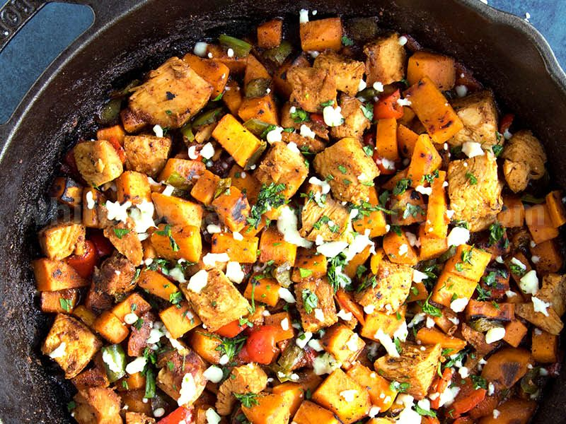 Smoked Turkey and Sweet Potato Hash Recipe
