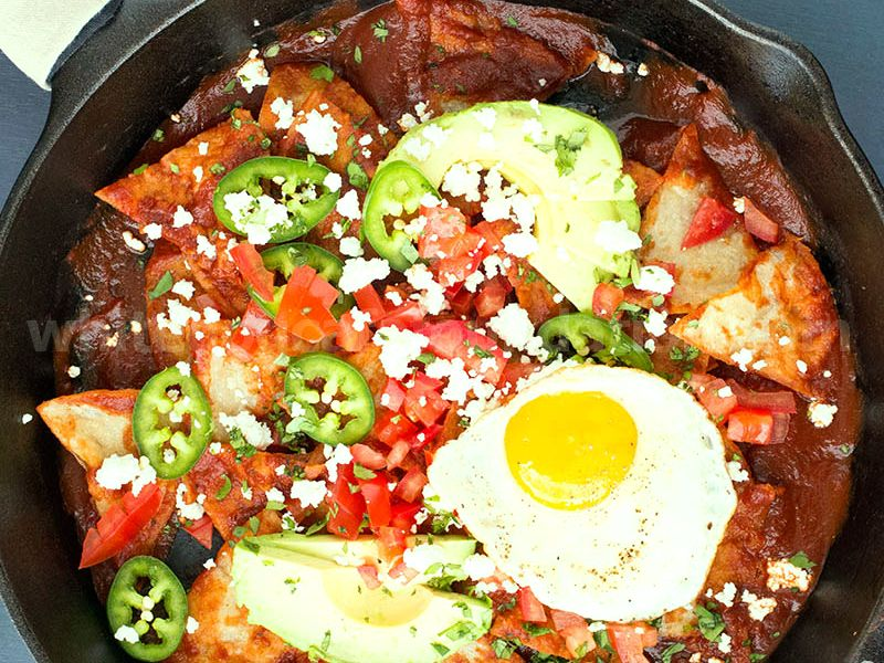 Chilaquiles Rojos with Ancho Chili Sauce - Recipe