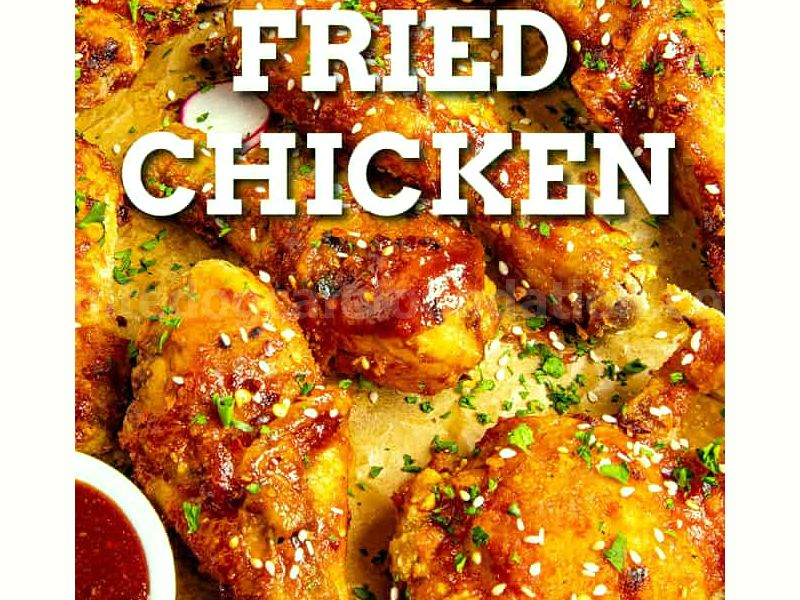 Crispy Korean Fried Chicken - For this crispy Korean fried chicken recipe, we season and coat the chicken in cornstarch, double fry it, then glaze it with a spicy gochujang sauce. #KoreanChicken #FriedChicken